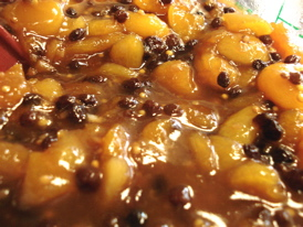 Apricot chutney, just off the stove