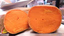 This mimolette's eyes actually do give me the impression they are looking at me.