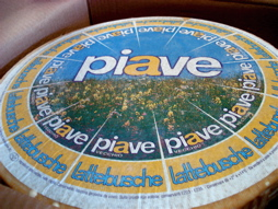 The wheel of Piave staring me down with its flowery meadows