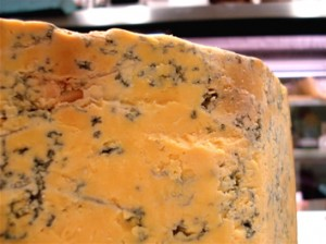 Shropshire blue, bright orange and ready to crumble on your next cheese plate.