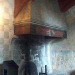 A kitchen fireplace.