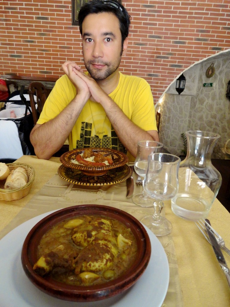 First meal in Aix--tagine and couscous!
