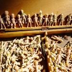 Ceramic figurines at a local flea market.