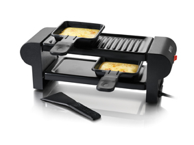 A mini raclette maker for toasty cheese meals. Photo courtesy of Boska.