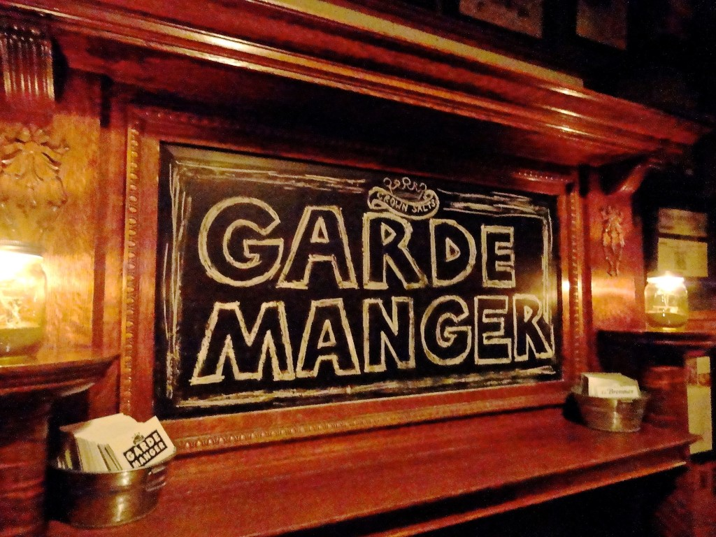 The entrance to Garde Manger.