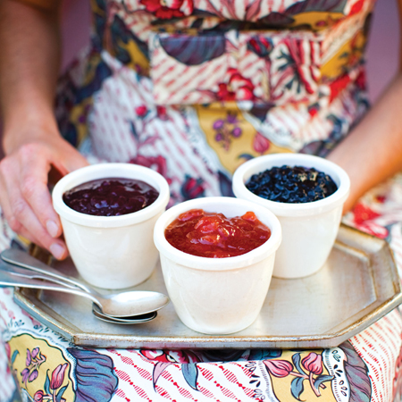 Blue Chair  Fruit Jams. Mmm. Photo by Sara Remington.