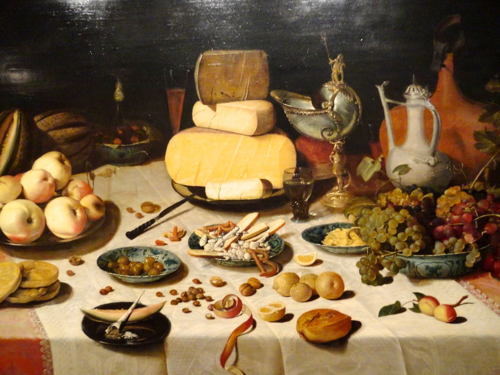 A cheesy still life at the Musee des Beaux Arts.