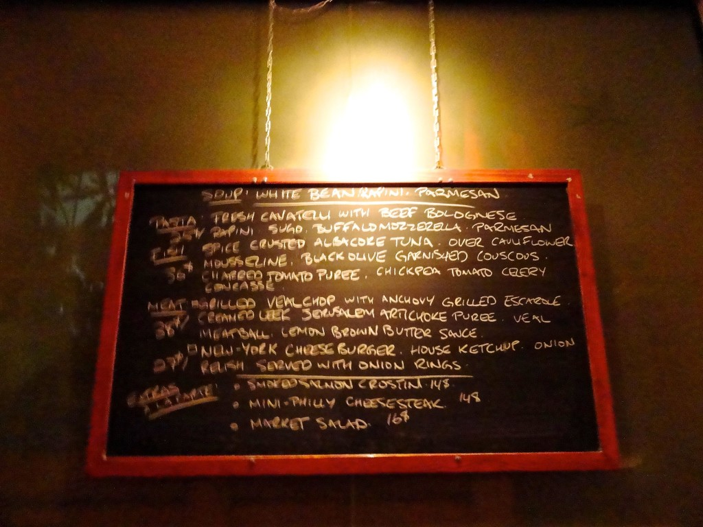 The daily specials board.