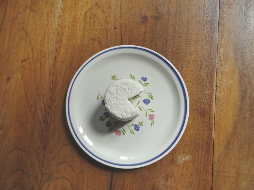 A fresh crottin from La Ferme du Bois Normand.