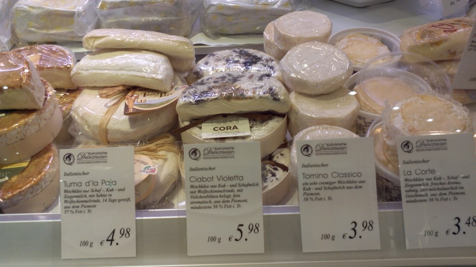 A foreign cheese case!