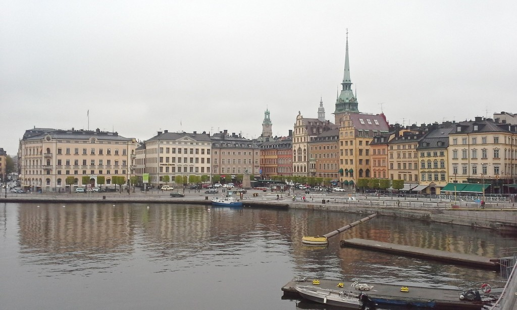 Downtown Stockholm.