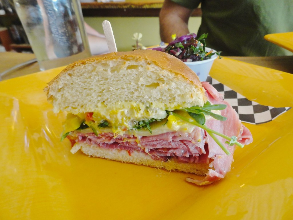 The Polynesian sandwich at The Butcher & The Baker, Seattle.