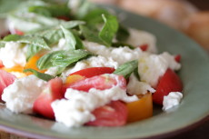 Make a burrata caprese salad! You won't regret it.