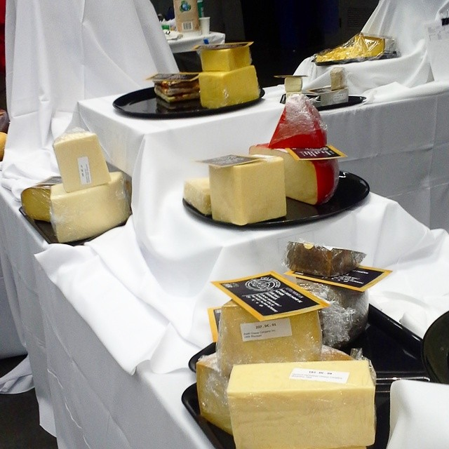 #festivalofcheese prep. One corner of the hundreds of tables here! #somuchcheese #cheesesociety14 #cheeselife #cheeselove