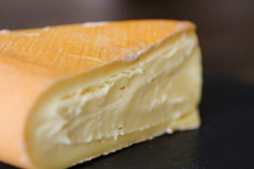 Grayson, a beautiful raw Jersey cow's milk, washed rind cheese from Meadow Creek Dairy in Virginia.