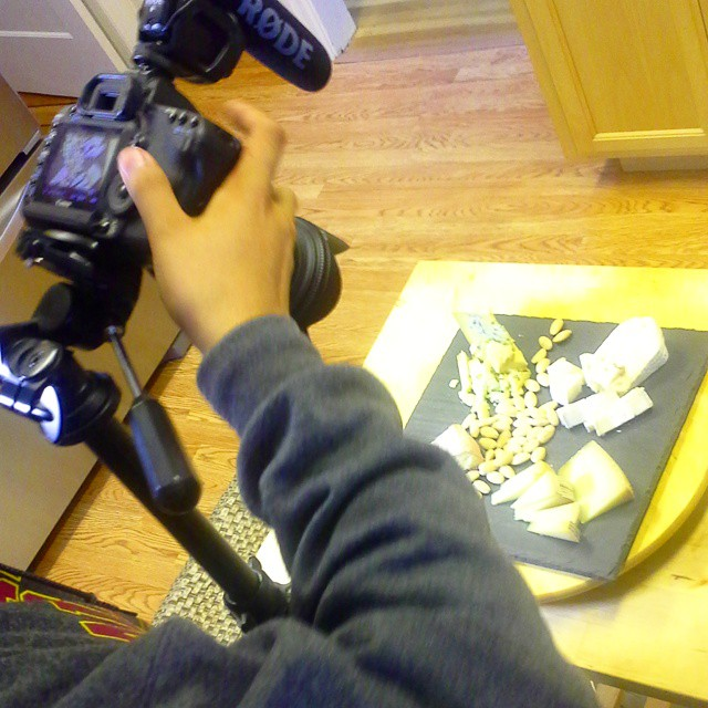 @zilla308 is from #la to film #cheese people for a #documentary! #sf #diy #handmade #cheeselife #cheeseplate #cheeseplatter #bloggers #blogging