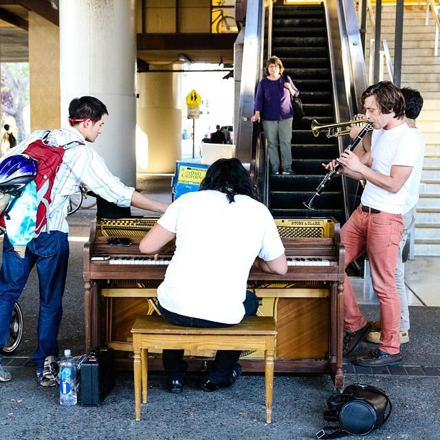 Seen at #rockridge #bart #oakland. #musiceverywhere #musiclives #pianoonthesidewalk