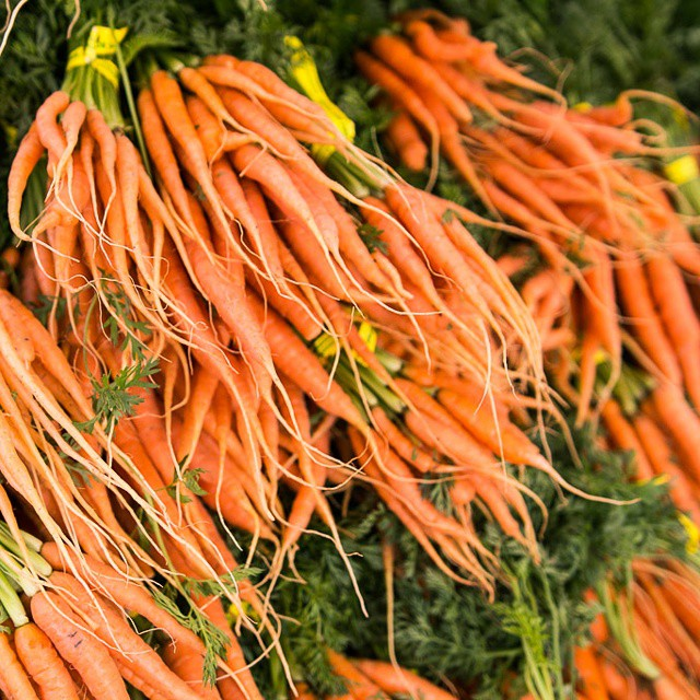More from the #farmersmarket #vegetable series: cascades of #carrots. #sf #color