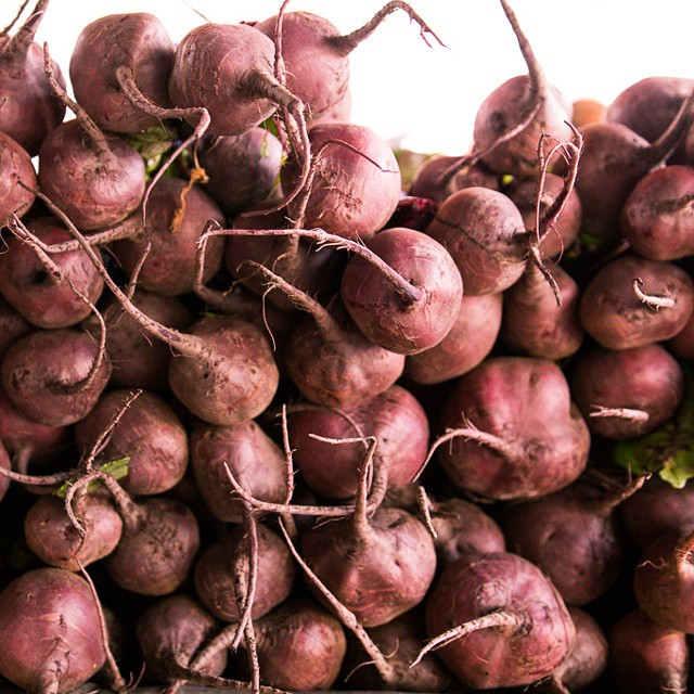 The last in my #colorful #vegetables #farmersmarket series for now! A wall of red #beets. #farmfresh #sf