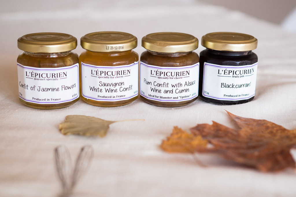 The jam/confit/confiture line-up from L'Epicurien.