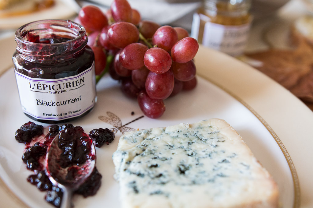 Blackcurrant Jam & Bleu De Brebis. Bliss.