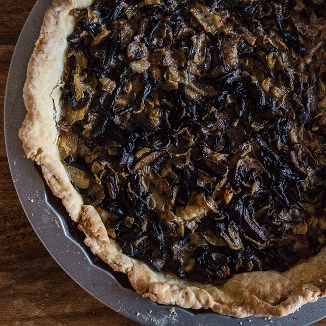 A #gorgeous #blacktumpet #mushroom #tart made by my sister in law for #thanksgiving. #foodwithfamily #foodblog #foodphotography #cooking #homemade
