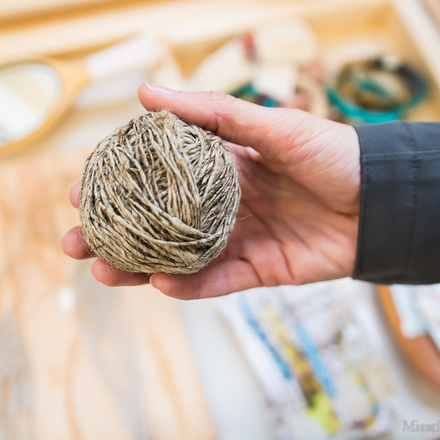 Hanging out with @laviesoleil at @westcoastcraft. A ball of #nettle #fiber from @displaylady. #latergram #artisan #handmade #sf
