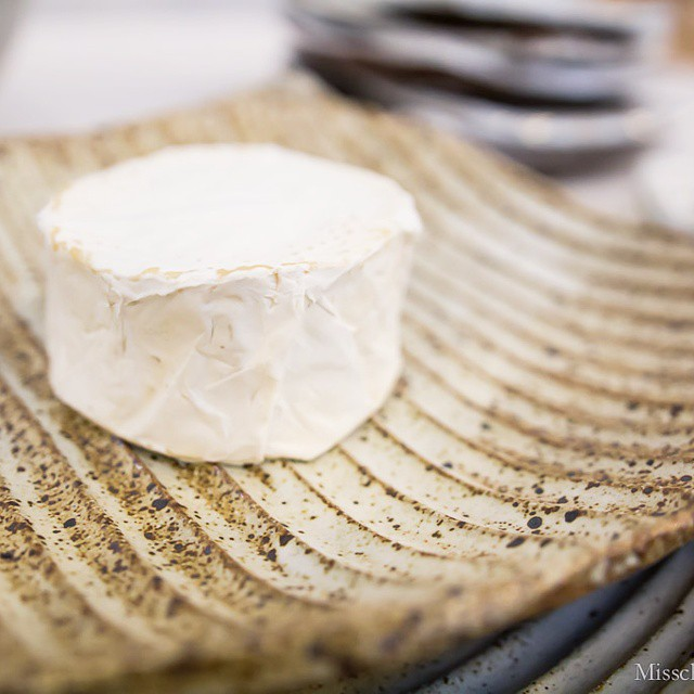 @laviesoleil made me this #lovely #doublecream #cheese,  and @mtwashingtonpottery let me photograph it on her #gorgeous #handmade #ceramic #plate at @westcoastcraft #sf. #adayinthelife #artisans #foodadventure #foodblog #foodblogger #foodphotos #lovethetexture #ceramics