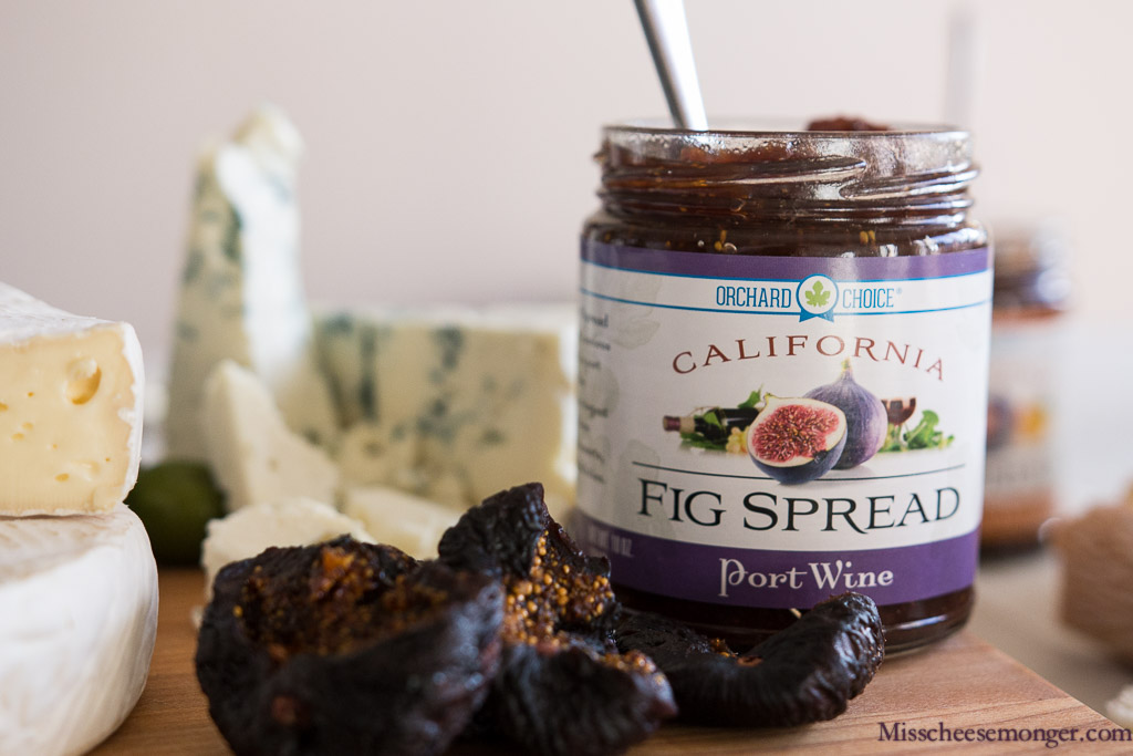 Port Wine Fig Spread, Point Reyes Blue.