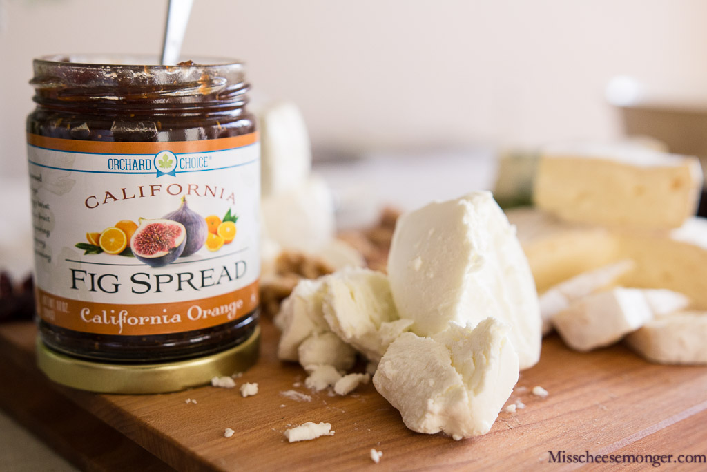 California Orange Fig Spread, Laura Chenel's Fresh Chèvre.