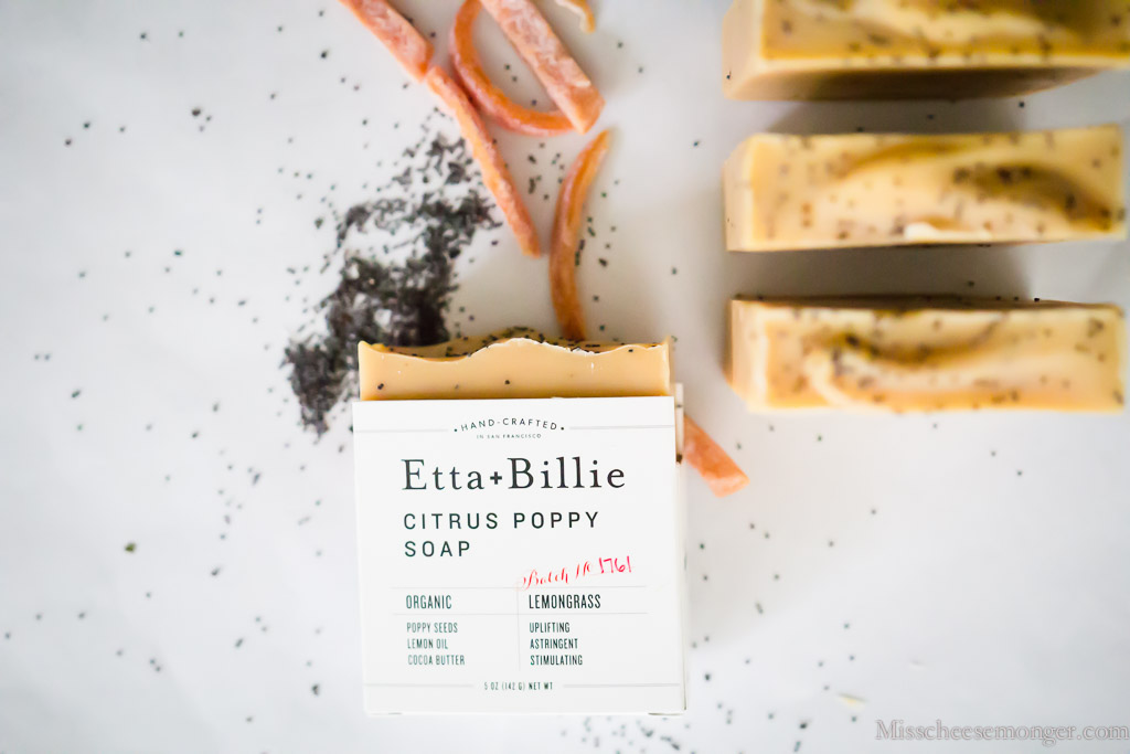 Etta + Billie's Citrus Poppy Soap.