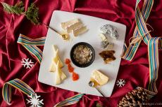 MIss Cheesemonger's Holiday Cheese Plate.