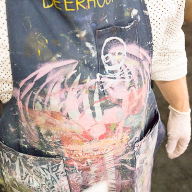 One super #awesome #apron I saw on Matt of #capriolegoatcheese at #wffs15. #cool #cheesepeople