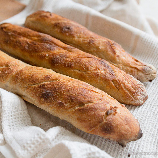 Here are the #beautiful #baguettes M. Cheesemonger made with our new #emilehenry forms, and the @tartinebakery #baguette recipe. We ate a good amount just as they came out of the oven with some butter and cheese! #heavenly! #foodphotos #foodphotography #foodblogger #homemade #bread #handmade #fromscratch #baking