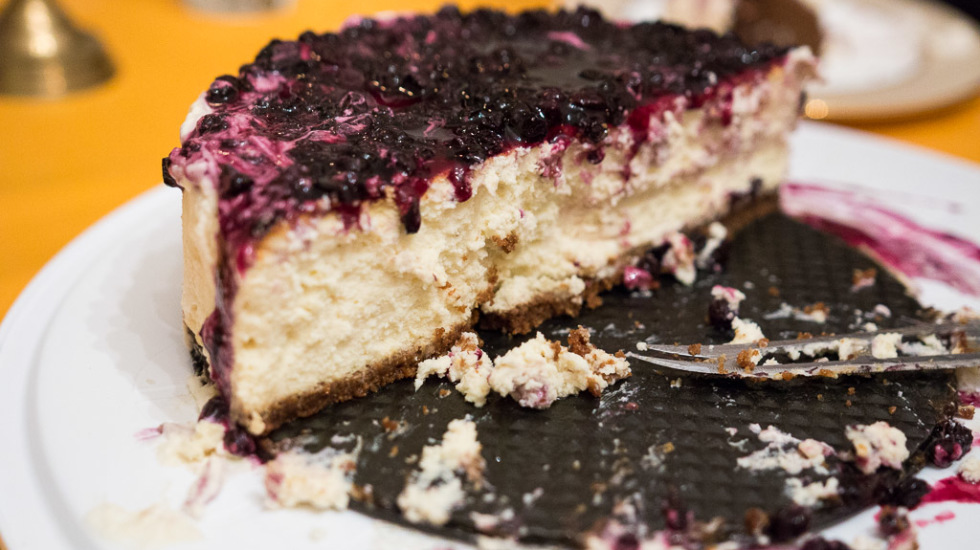 Get your oven mitts out! Here's a recipe for blueberry lemon cheesecake, with lavender whipped cream.