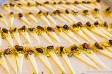 Erin Clancy from Whole Foods: 1605 Manchego, cold pressed olive oil, pistachios, pickled fig.