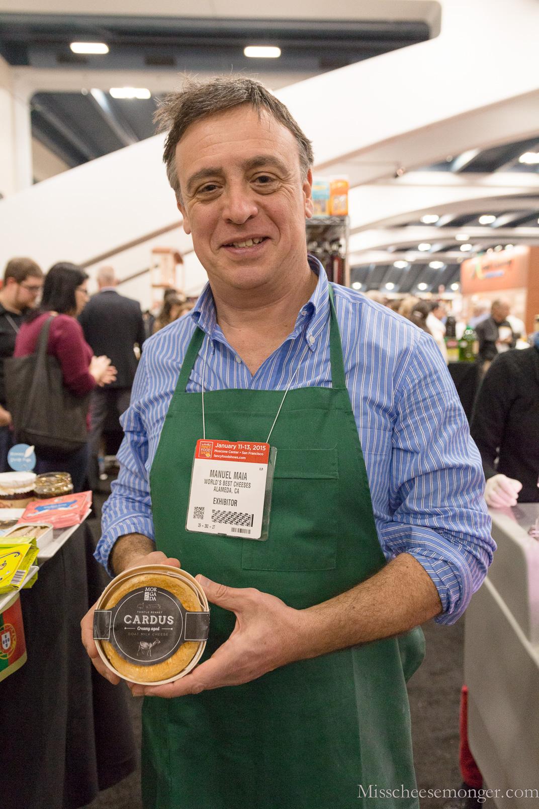 Portuguese exporter Manuel Maia shows off Cardus.