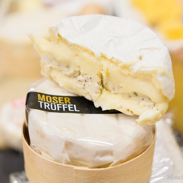 #happy #nationalcheeseloversday! What are you celebrating with? This is #creamy #moser #truffel from #switzerland. If you've got this on your plate, you are one lucky #cheeselover! I've got more cheeses #ontheblog, #misscheesemonger.com. #gourmet #gourmand