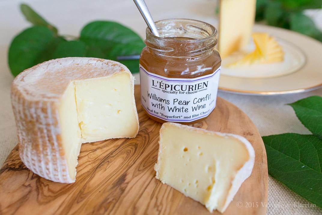 Vulto Creamery's Miranda, L'Epicurien Williams Pear Confit with White Wine.
