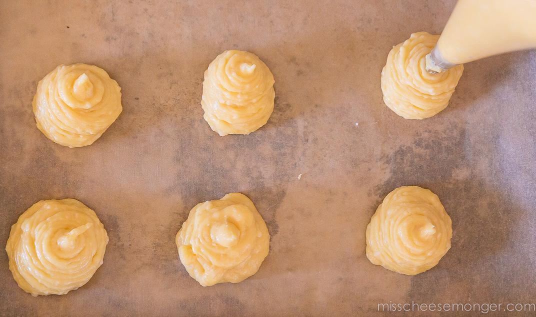 Baking: gougeres recipe.
