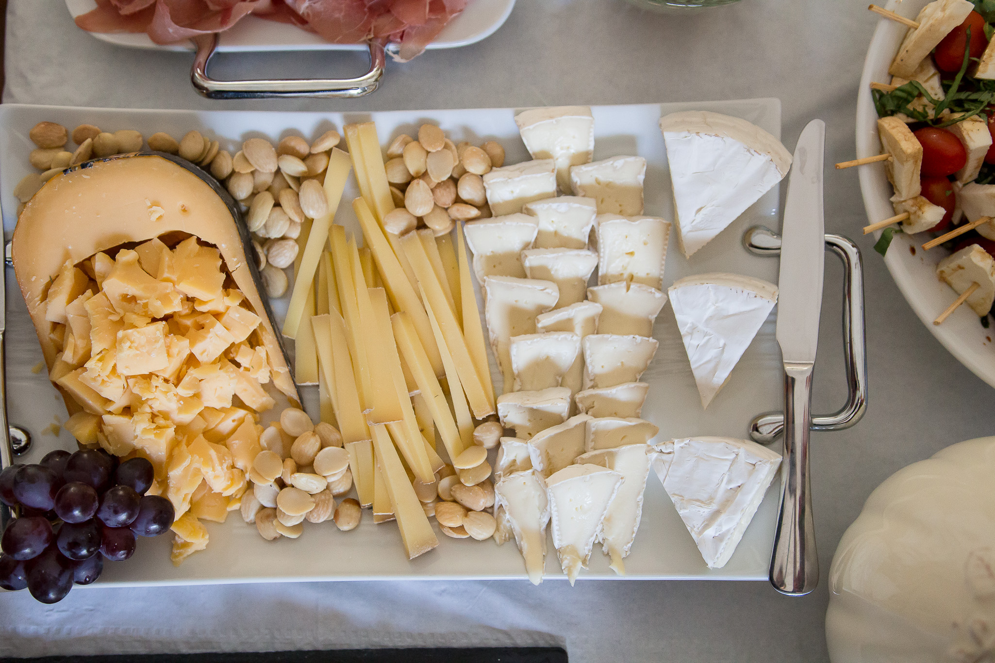 Some Marcona almonds and a bit of fruit can dress up a cheese plate in no time.