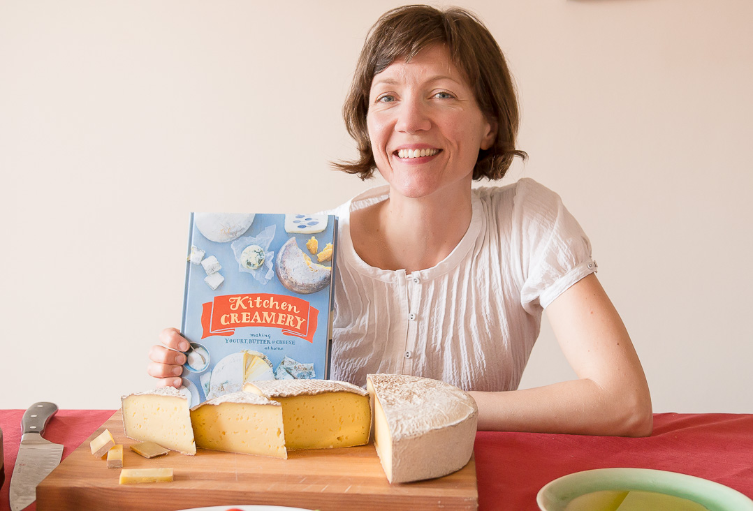 And here's Louella showing off her new book, Kitchen Creamery!