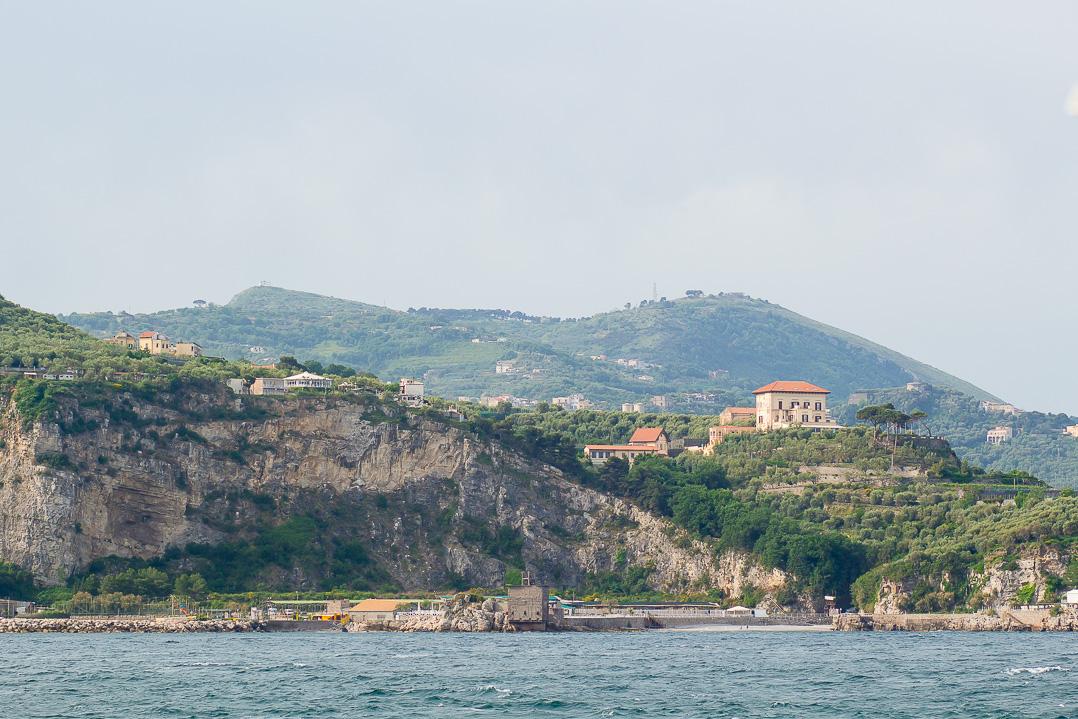 On the ferry to Capri.
