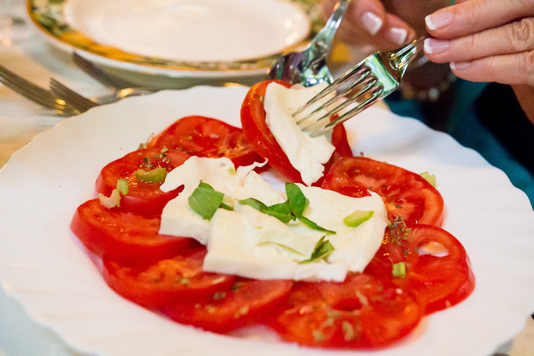 Caprese salad. One of many during this trip.