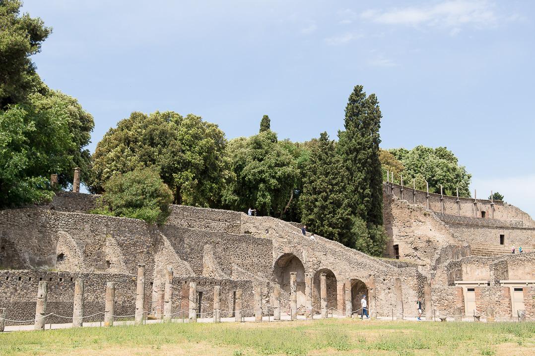 Travel to Pompeii.
