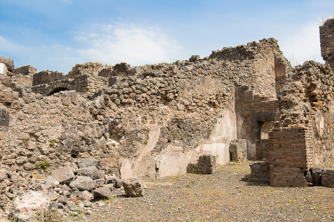 The ruins of Pompeii.