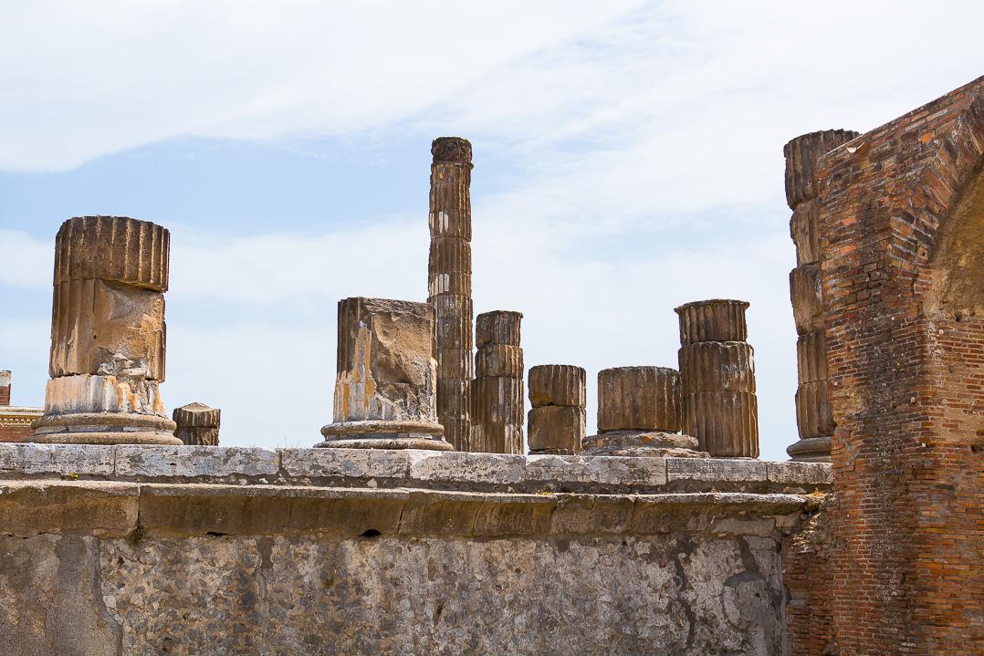 At the forum of Pompeii.
