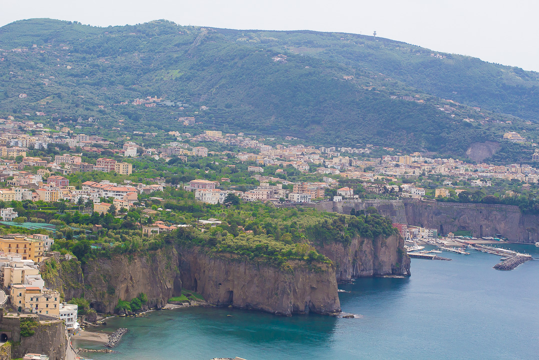 A panoramic view at the Bay of Naples.