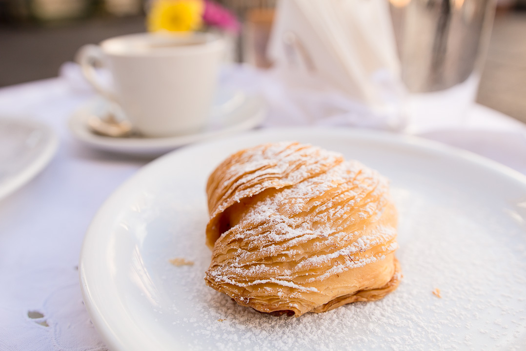 Sfogliatella, one of many devoured during this trip.