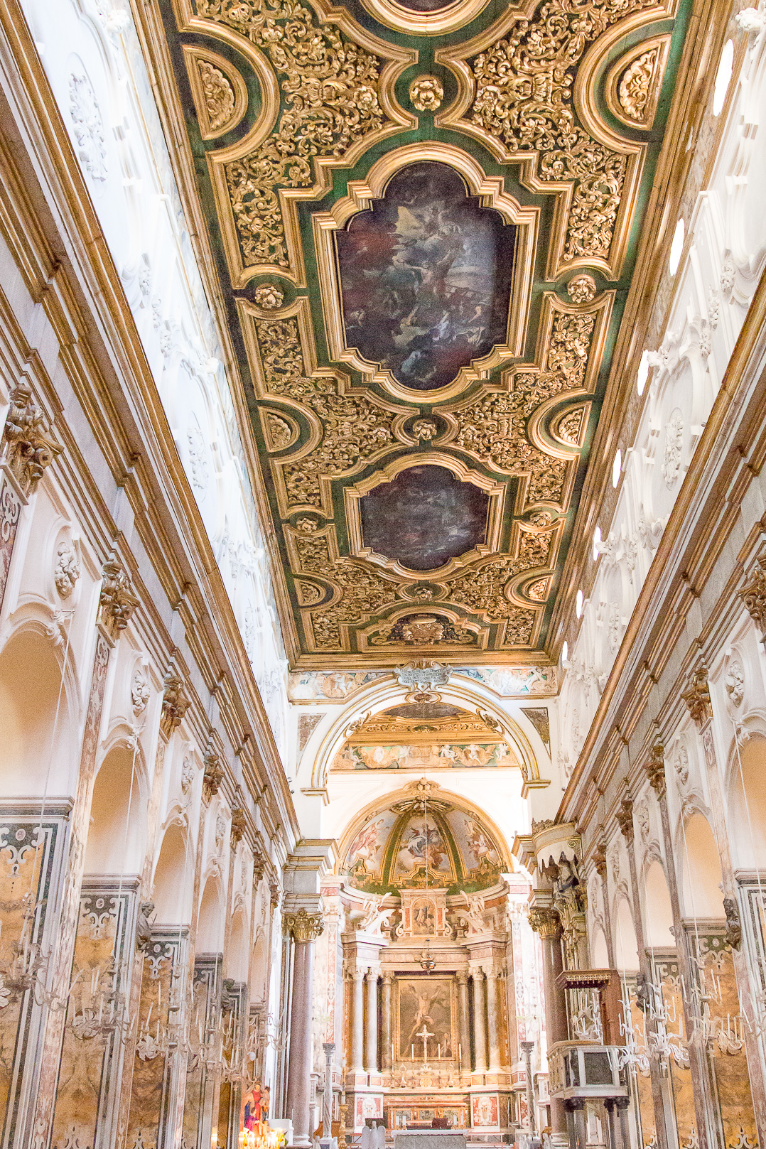Inside the church at Amalfi.